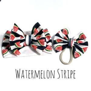 Farm Fresh Watermelon Stripe Print